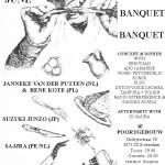 Aloardi Concert: 'BANQUET BANQUET BANQUET': Suzuki Junzo / Janneke van der Putten & Rene Kote / Sajjra / Dj Sajjra (Poortgebouw, Rotterdam, NL)